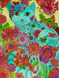 Cat Stuff, Zentangles, Owls, Doodles, Drawings, Creative, Painting, Art, Kittens