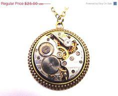 Sale 25 Off Mens Steampunk Medallion Necklace by Treasurebay, $18.75