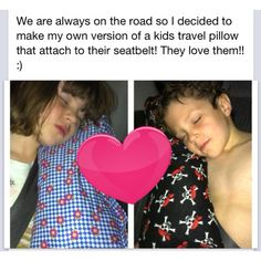 travel pillows attach to seat belt for older kids