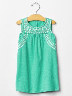 Gap | Embroidered leaf dress