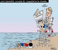 Les caricatures de Garnotte: Chris Alexander, ministre de l'Immigration au Canada...