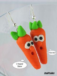 Humorous Earrings  Polymer Clay Earrings  Food by SuePsales, $8.00