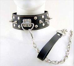 LKOUS PU-Leder-Halsband mit Slave