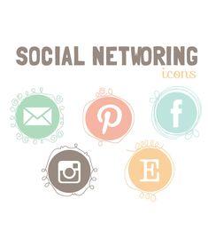 Social Networking icons blog social media icons - Social media- blog website buttons. $9.00, via Etsy.