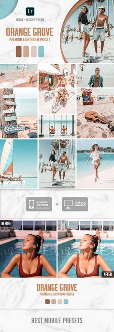 Mobile & Desktop Lightroom Presets Orange Grove / Blogger Presets for Instagram Travel Lifestyle Fashion photography