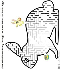 Printable Easter bunny maze to find the eggs worksheet – Printable Coloring Pages For Kids Make your world more colorful with free printable coloring pages from italks. Our free coloring pages for adults and kids. Easter Puzzles, Easter Worksheets, Easter Art, Hoppy Easter, Easter Crafts, Easter Bunny, Easter Coloring Sheets, Easter Colouring, Worksheets
