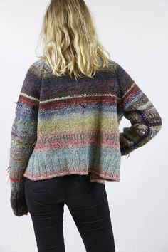 Hand knitted multicolor jacket