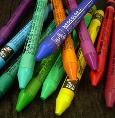 Caran D'Ache Neocolor II Watersoluble Crayons.  I am still getting used to these, but they are great for art journaling and traveling.  They go down just like a crayon, but when you brush over them with water they are bright and vibrant.  I like mixing them with Gesso for an opaque color too.  A very versatile  crayon, better than watercolor pencils in my opinion.