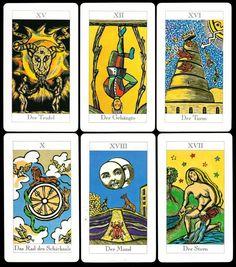 JD Tarot Karten Set 78 Tarotkarten und Buch für Anfänger