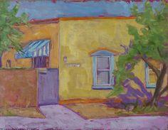 Jef Bret Harte's home in the Barrio Tucson AZ oil on board