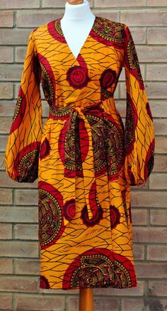 ♡African print dress African print wrap dress by AbrefiFashion