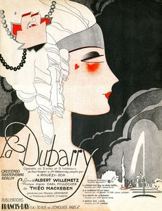 "Illustrated Sheet Music Cover for ""La Dubarry"".(F)"