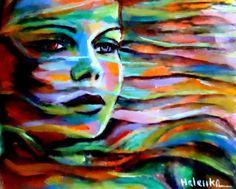 Helenka Paintings | Helenka (©2013 artmajeur.com/helenka) Abstract Portraiture - Painting ...