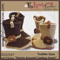 Toddler Crochet Pattern Cowboy Boots