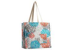 Blooms Tote Bag, Pacific on OneKingsLane.com