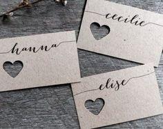 Hochzeit Tischkarten Platzkarten Tischkarte von LaPommeEtLaPipe