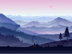 Captivating Sceneries Illustrations by Adrian Fernandez – Fubiz Media