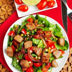 Personal Trainer Food Recipes - Asian Pepper Steak Salad