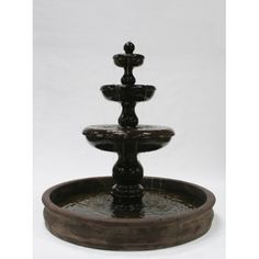 """Classic 3-Tier Fountain with 74"""" Basin"""