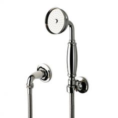 Guest & Girls' Bath (CHROME) and Master Bath (NICKEL): Easton Classic Handshower On Hook with Metal Handle — Products | Waterworks