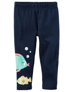 Toddler Girl Fish Capri Leggings from Carters.com. Shop clothing & accessories from a trusted name in kids, toddlers, and baby clothes.