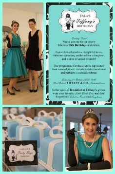 "Photo 1 of 14: Breakfast at Tiffany's / Audrey Hepburn / Tiffany & Co / Birthday ""Tala & Co's Breakfast at Tiffany's 30th Birthday""   Catch My Party"