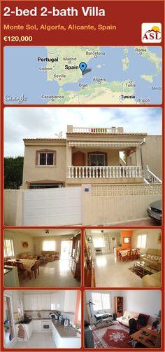 2-bed 2-bath Villa in Monte Sol, Algorfa, Alicante, Spain ►€120,000 #PropertyForSaleInSpain