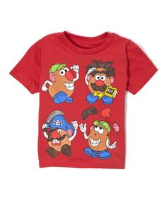 Another great find on #zulily! Red Mr. Potato Head Four-Character Tee - Toddler & Boys by Mad Engine #zulilyfinds