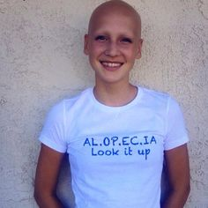 ALOPECIA AWARENESS Look it up t shirt by TonisCornerTshirts
