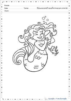 Desenhos da Iara para colorir e imprimir - Sereia Iara para pintar Random Drawings