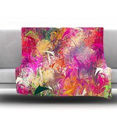 "East Urban Home Splash by Danny Ivan Fleece Throw Blanket Size: 60"" H x 50"" W"