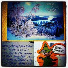 #postcrossing #postcard #stamp #finland #suomi #snow #kartpostal #pul #finlandiya #kar