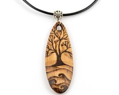 Unique Handmade Pyrography Art, Wooden Jewelry & Gifts by MarkintoshArt,Wooden oval pendant Freehand tree pyrography art Nature design One-of-the-kind Boho design Unique Rustic Country style Gift for her What's wood burnin. Wood Burning Crafts, Wood Burning Patterns, Wood Burning Art, Wood Crafts, Diy Wood, Wood Burning Techniques, Wood Burn Designs, Pendant Jewelry, Oval Pendant
