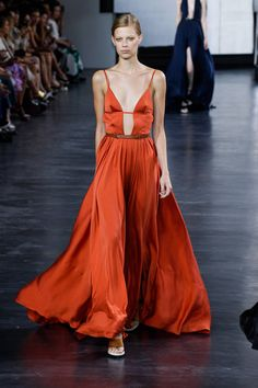 The Must-Have Pieces From NYFW Fashion Week - New York Fashion Week Spring 2015 Best Runway Looks - Elle- Jason Wu - strap play and dramatic necklines