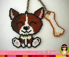 cute smiling dog & bone -  Las Miri Creaciones - also nesting doll earrings!!!!!