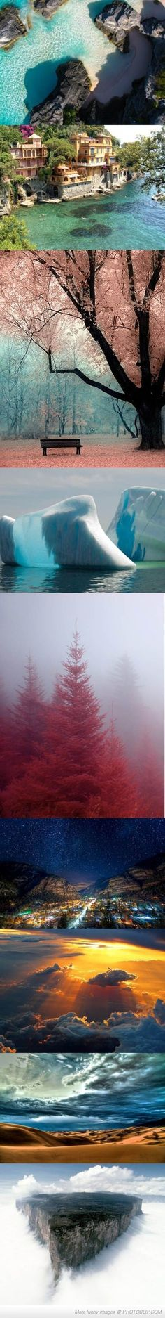 Could you imagine being in the very spot the photographer took these pictures in? It would be unreal.
