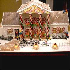 """2010 Gingerbread House Contest Winners - Finalist: St. Andrews by Loreta W., Eugene, OR: """"This is a replica of a real house located in Eugene, Oregon."""""""