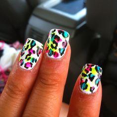 cheetah nails :D Stiletto Nails, Toe Nails, Cheetah Nails, Fabulous Nails, Amazing Nails, Manicure And Pedicure, Pedicures, Nail Trends, Acrylic Nails