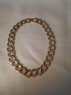 NAPIER CHOKER / Gold Infinity Necklace / Chunky / Designer /