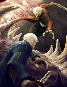 dante vs vergil by ~spadjm on deviantART