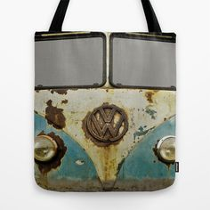 For Kally! VW Rusty Tote Bag by Alice Gosling