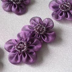 Mauve organza flowers by Sew Surplus