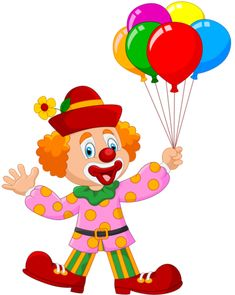 Clown with balloons PNG and Vector Adult Circus Party, Circus Theme Party, Circus Clown, Carnival Birthday Parties, Circus Birthday, Decoration Cirque, Circus Decorations, Send In The Clowns, Red Day