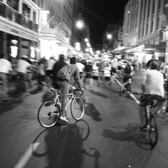 cyclists take over Cape Town's streets at night.
