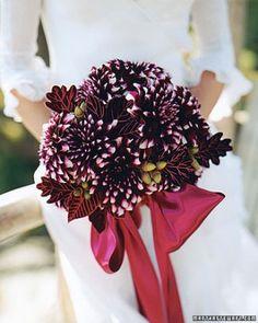 Purple Bouquets | Martha Stewart Weddings