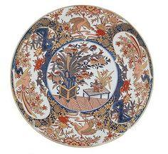 "Description: Japanese Imari porcelain charger Dia.18"".  Provenance: Atlanta, Georgia private collection"
