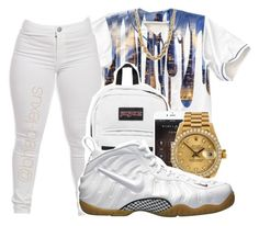 """""""Everyday Turn Up """" by bhad-lexus ❤ liked on Polyvore featuring JanSport, xO Design and Rolex"""