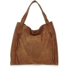 River Island Tan suede lacing tote bag (370 PLN) ❤ liked on Polyvore featuring bags, handbags, tote bags, tan tote bag, brown tote purse, brown tote, tote handbags and brown suede handbag