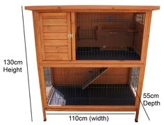Double Decker Rabbit Hutch, Xx-large Hutch, Rabbits / Guinea Pig, 2 Tier, Deck