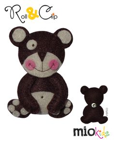 """""""Barnabé"""" Bear Mio character to use with Roll & Clip bands."""